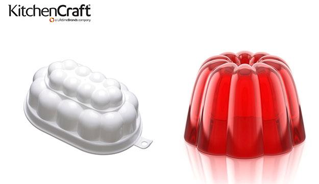 KitchenCraft White Plastic Jelly Mould 500 ml