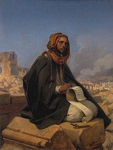 Horace Vernet, Jeremiah on the ruins of Jerusalem (1844)