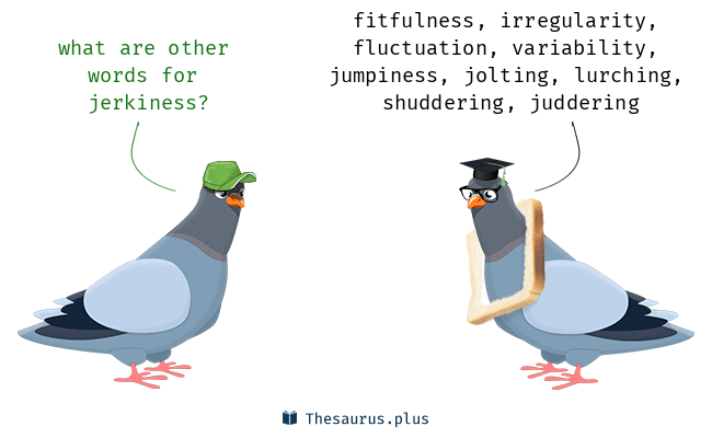 Synonyms for jerkiness