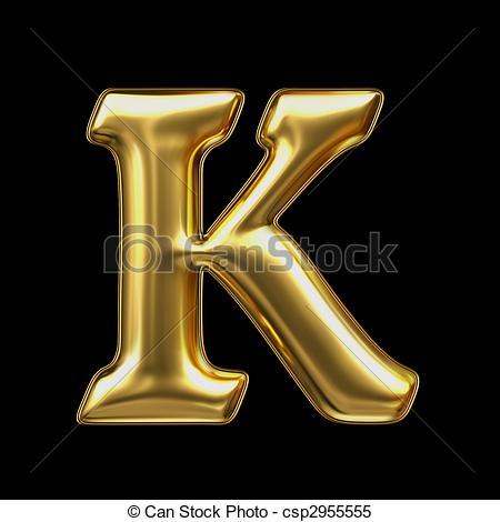 dorado, k, metal, carta - csp2955555