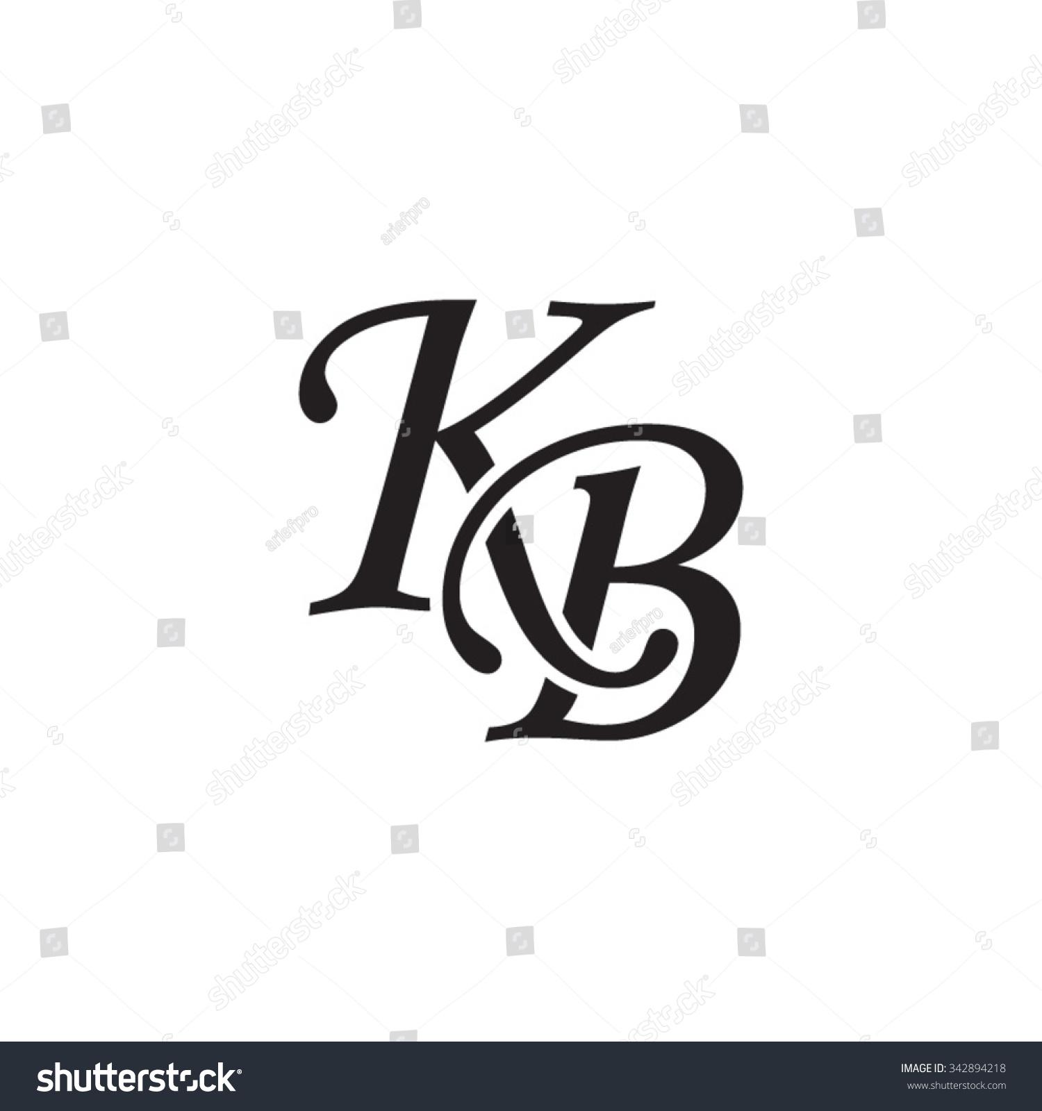 KB initial monogram logo