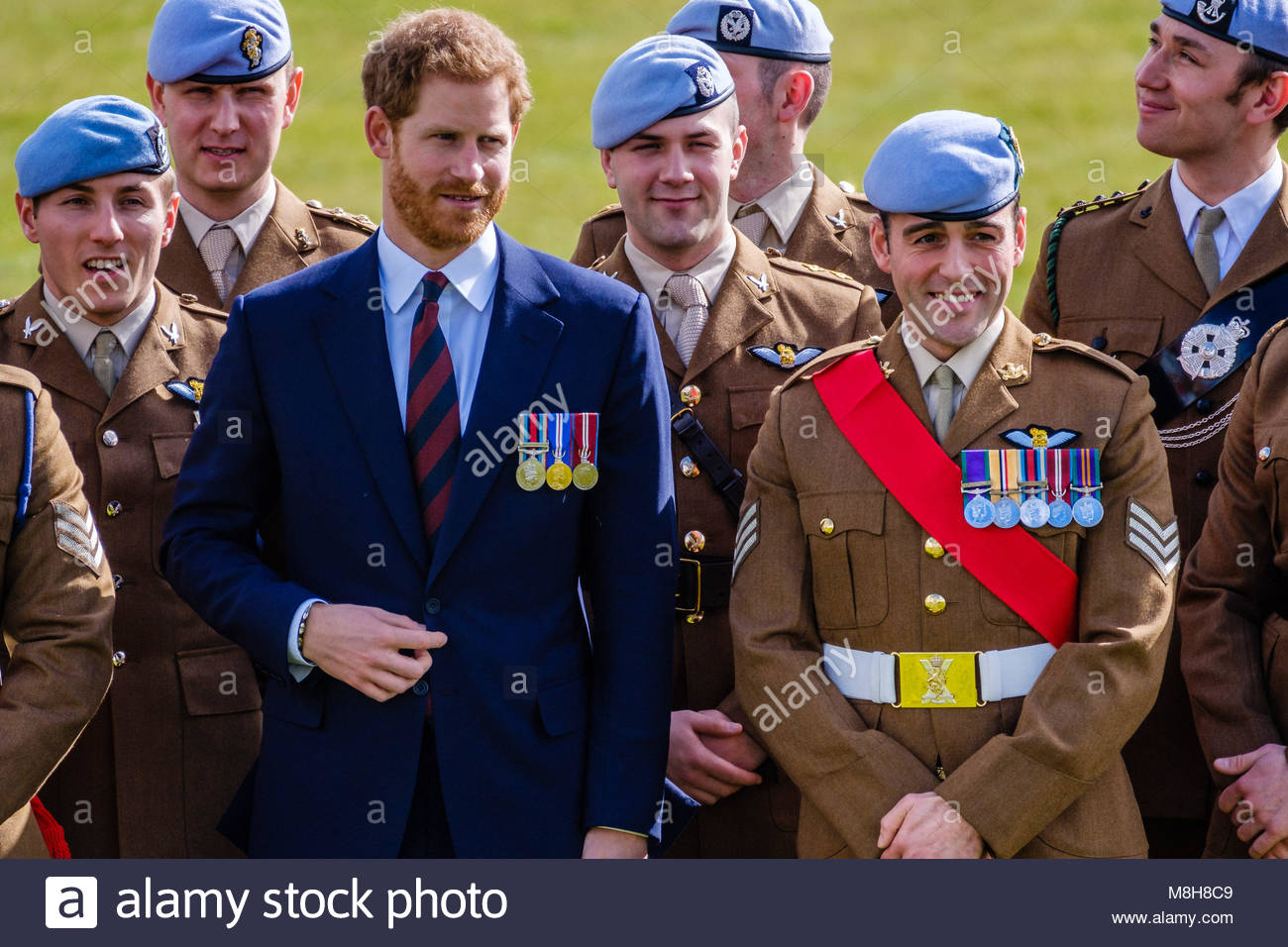 Prince Henry of Wales KCVO at the Museum of Army Flying, Middle Wallop on  Friday 16 March, 2018. Prince Harry returns to the Army Aviation Centre  where he