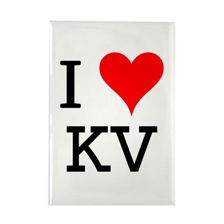 I Love KV Rectangle Magnet