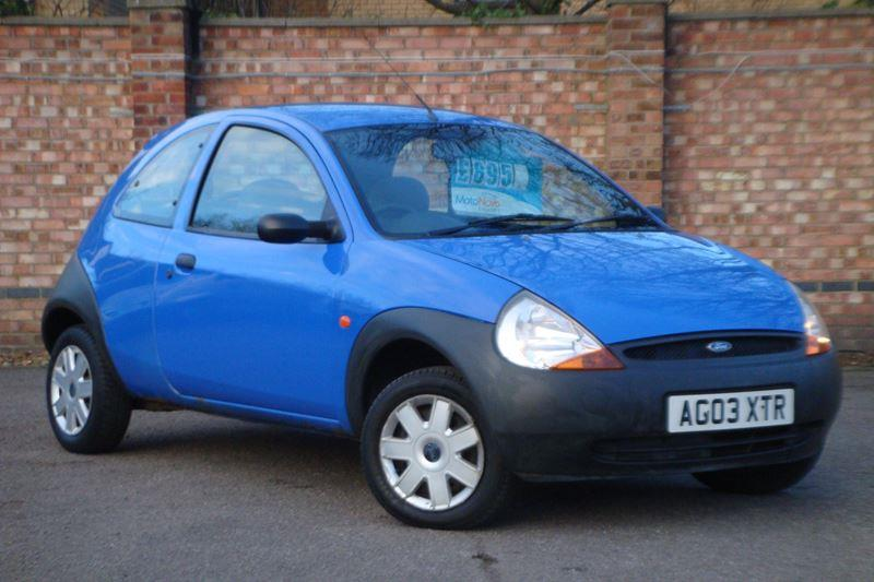 Make: Ford, Model: Ka, Colour: Blue, Year: 2003,