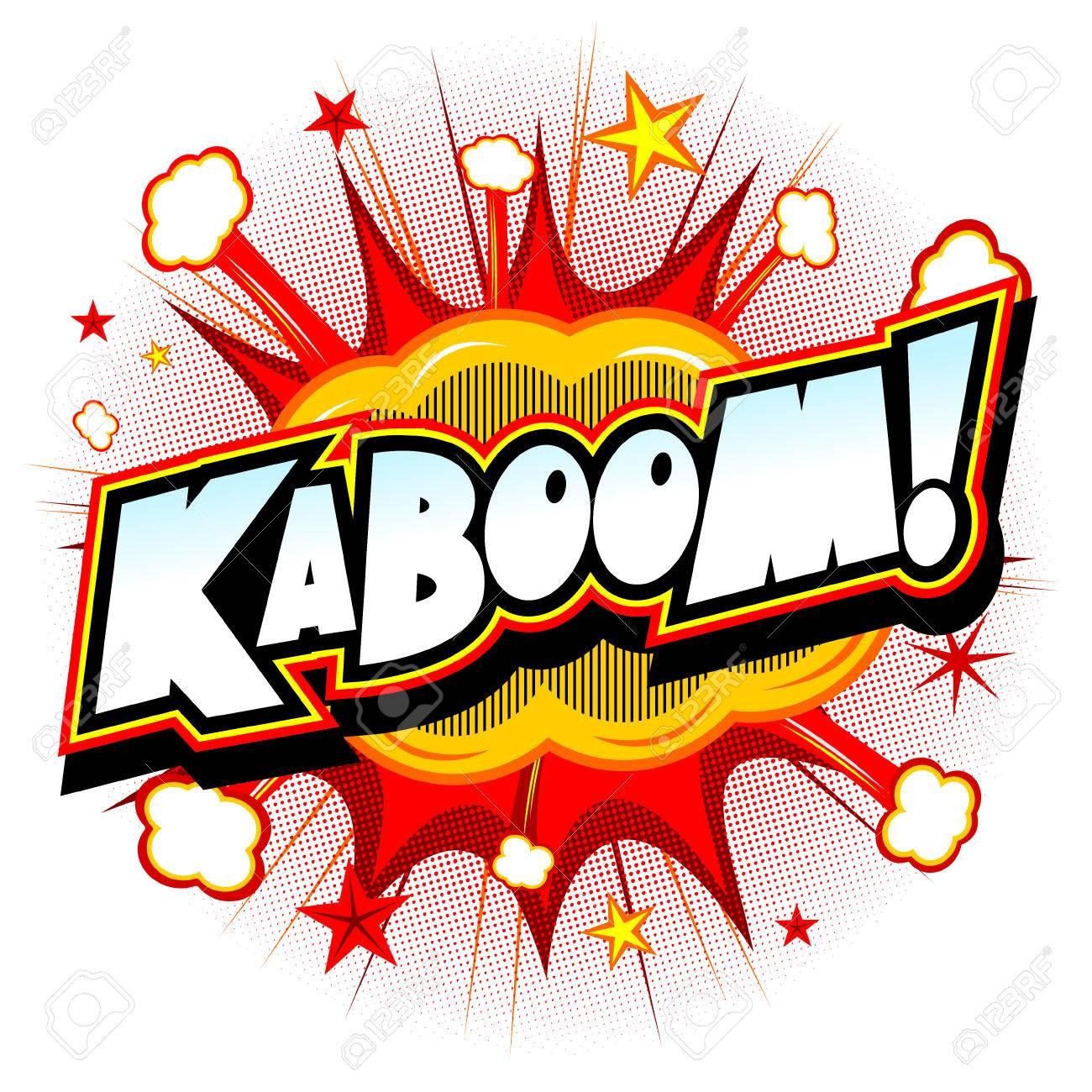 Ilustración de la explosión - Kaboom! Foto de archivo - 83380804