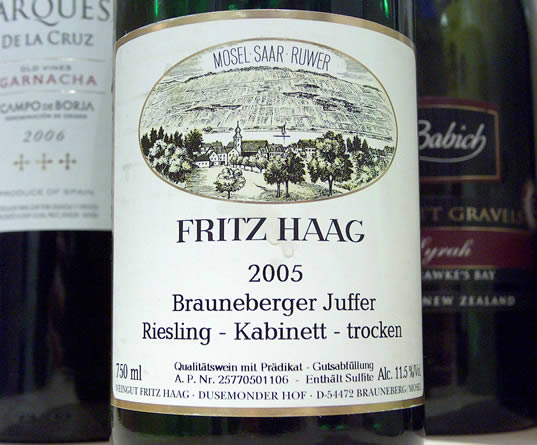 A dry Kabinett from Fritz Haag