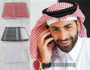 Image is loading Muslim-Turban-Islamic-Kaffiyeh-Arab-Men-Scarf-kaffiyeh-