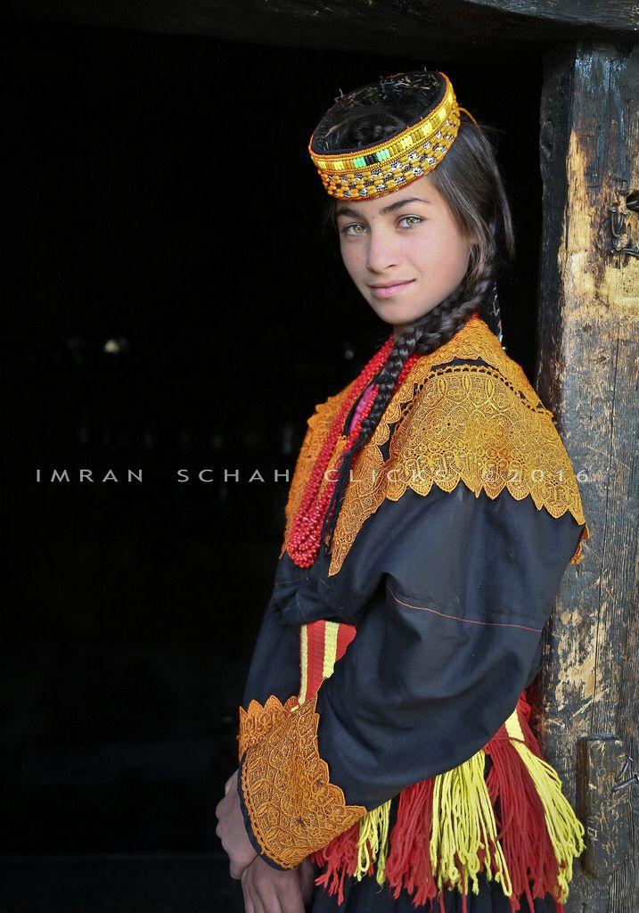 Kalashi girl from Kalash Valley (Kafiristan) of Northern Pakistan. Also  known as the pagan tribes.