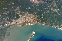 Vista aérea de Kakinada