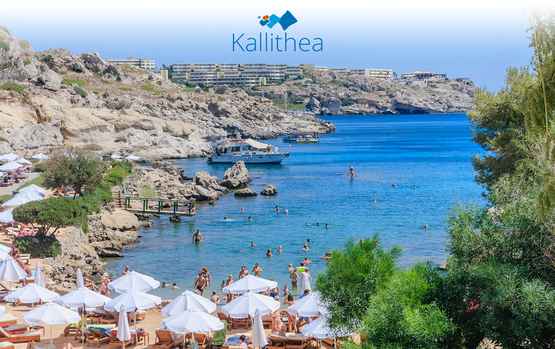 The beach of Kallithea is famous for its hot medicinal springs which were  built by the Italians but no longer function. It is found 8 km south of  Rhodes