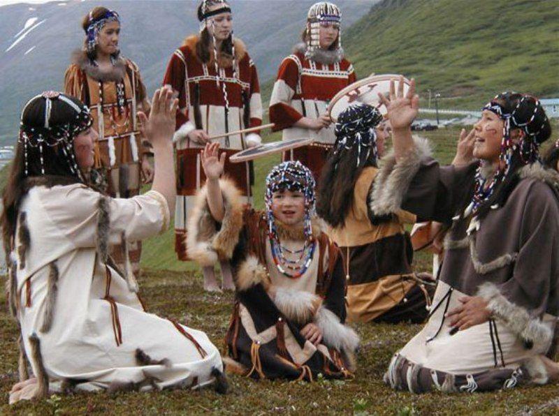 (Kamchadal) Kamchadal people. Extrem northeastern Siberia, Russia. aka  Itelmen.