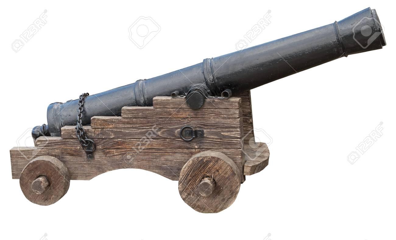 Modell der alten Kanone auf weißem Hintergrund Standard-Bild - 79971488