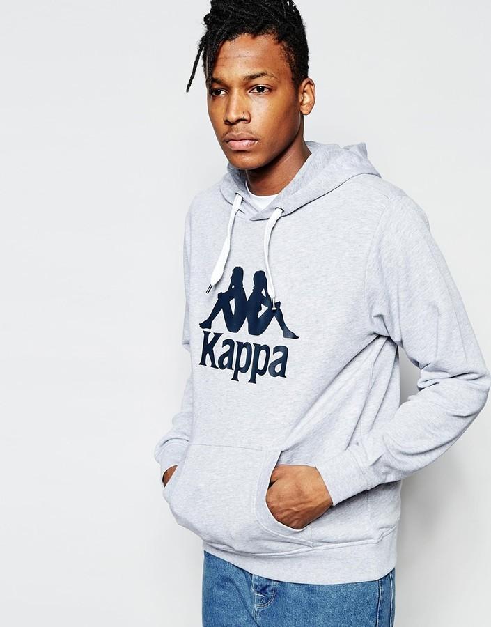 Sudadera con capucha estampada gris de Kappa