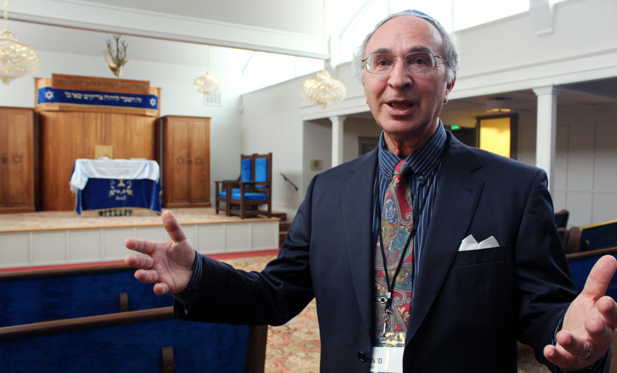 In the renovated sanctuary, David Ovadia speaks with pride about the  realization of his vision