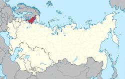 Location of Republic of Karelia