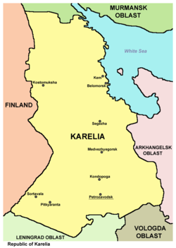 Largest cities of the Republic of Karelia.