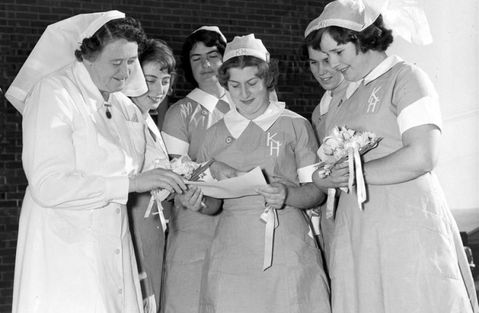 Karitane nurses who received their graduate diplomas on the 14th of May,  1963, with