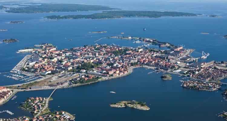Flygbild Karlskrona