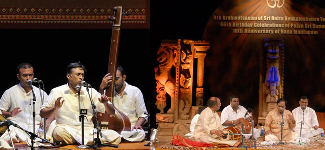 Carnatic music artists play flute and violin.famous karnatak music artist  plays tabla,ghatam
