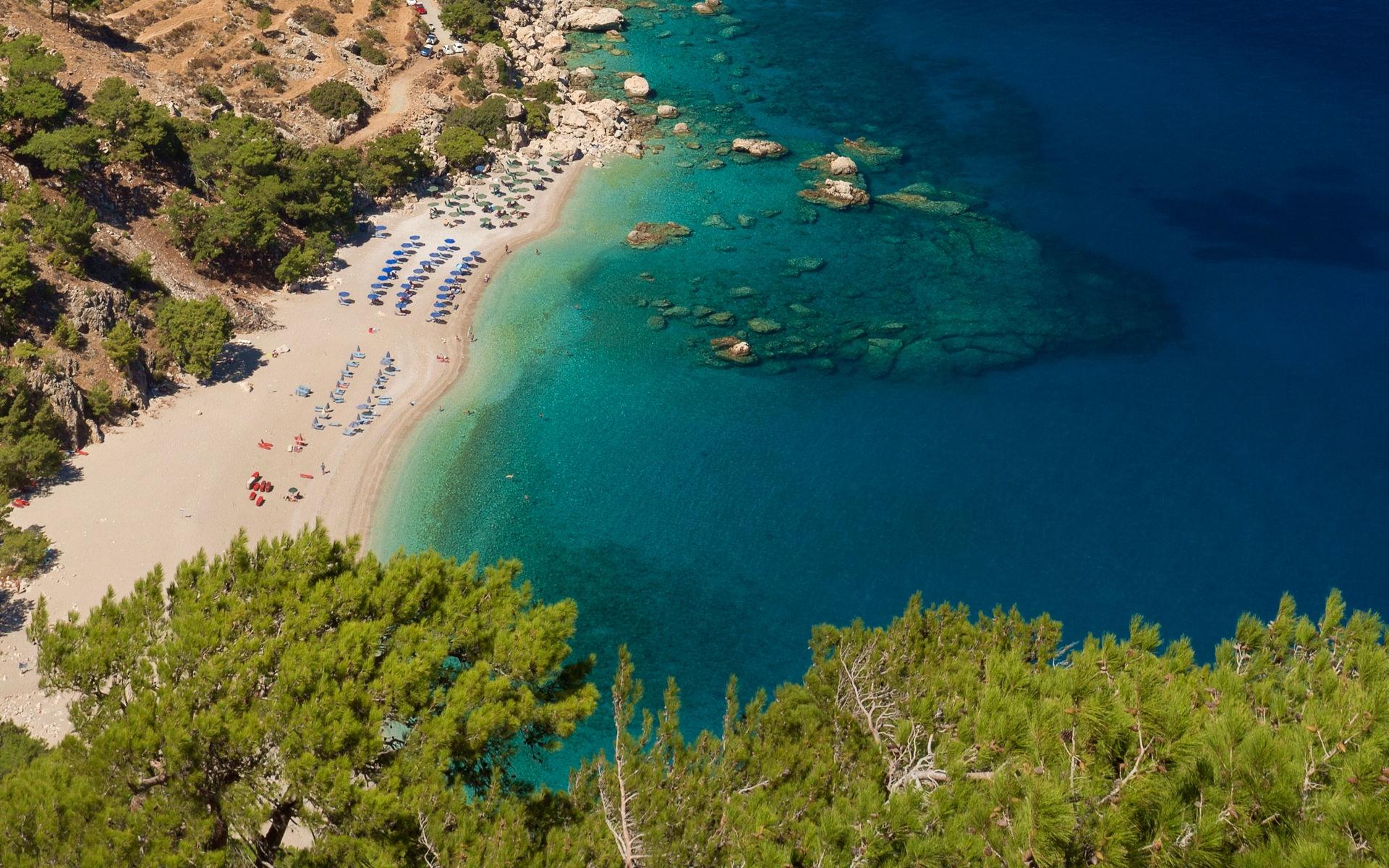 Exotic beach of Apella, Karpathos Exotic beach of Apella,