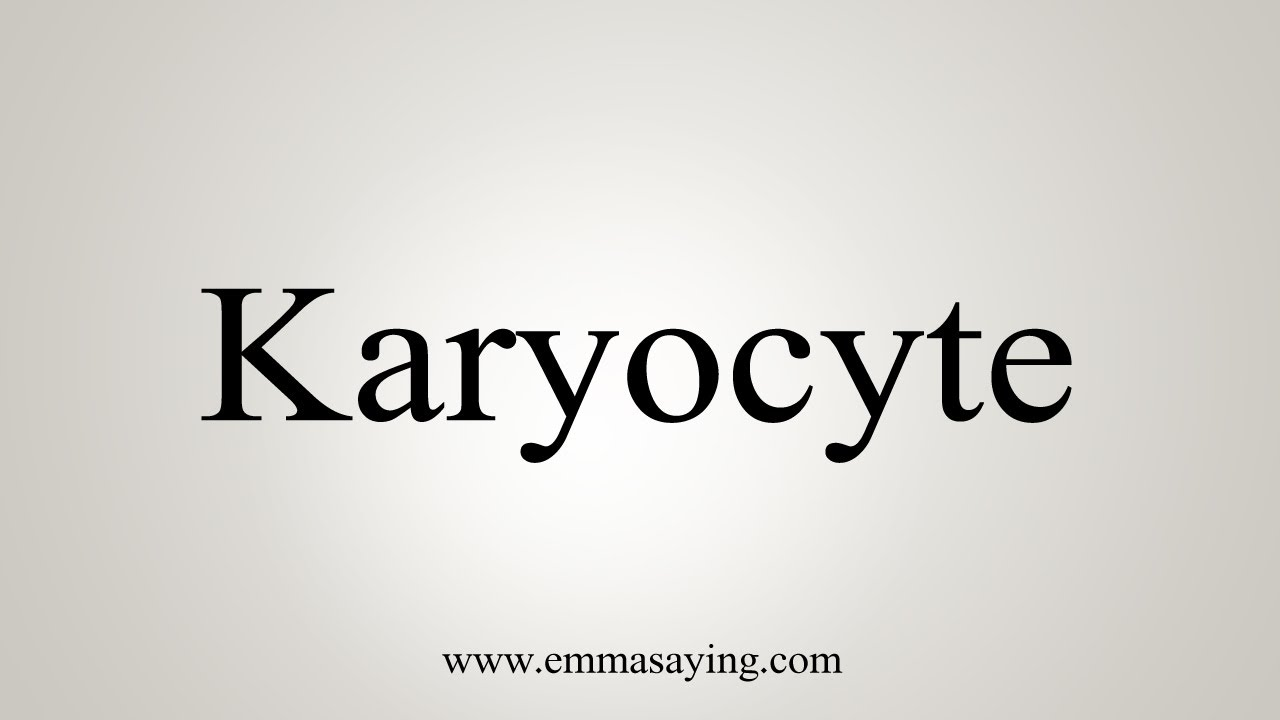 How To Say Karyocyte