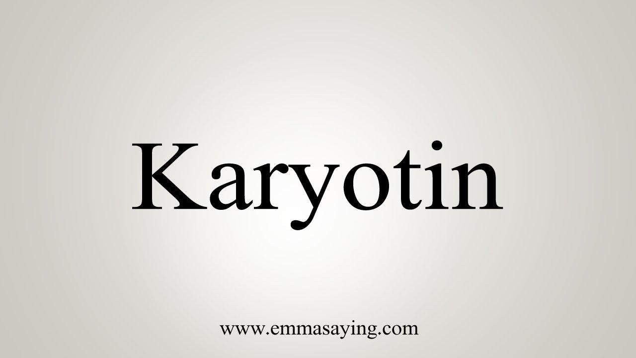 How To Pronounce Karyotin