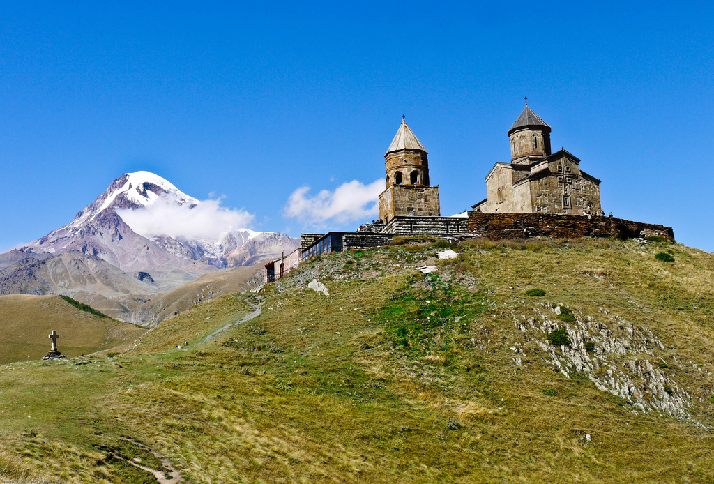 Georgia | by mfellnerphoto Zminda Sambea Church and Mt. Kasbek 5033 m. -  Georgia | by mfellnerphoto