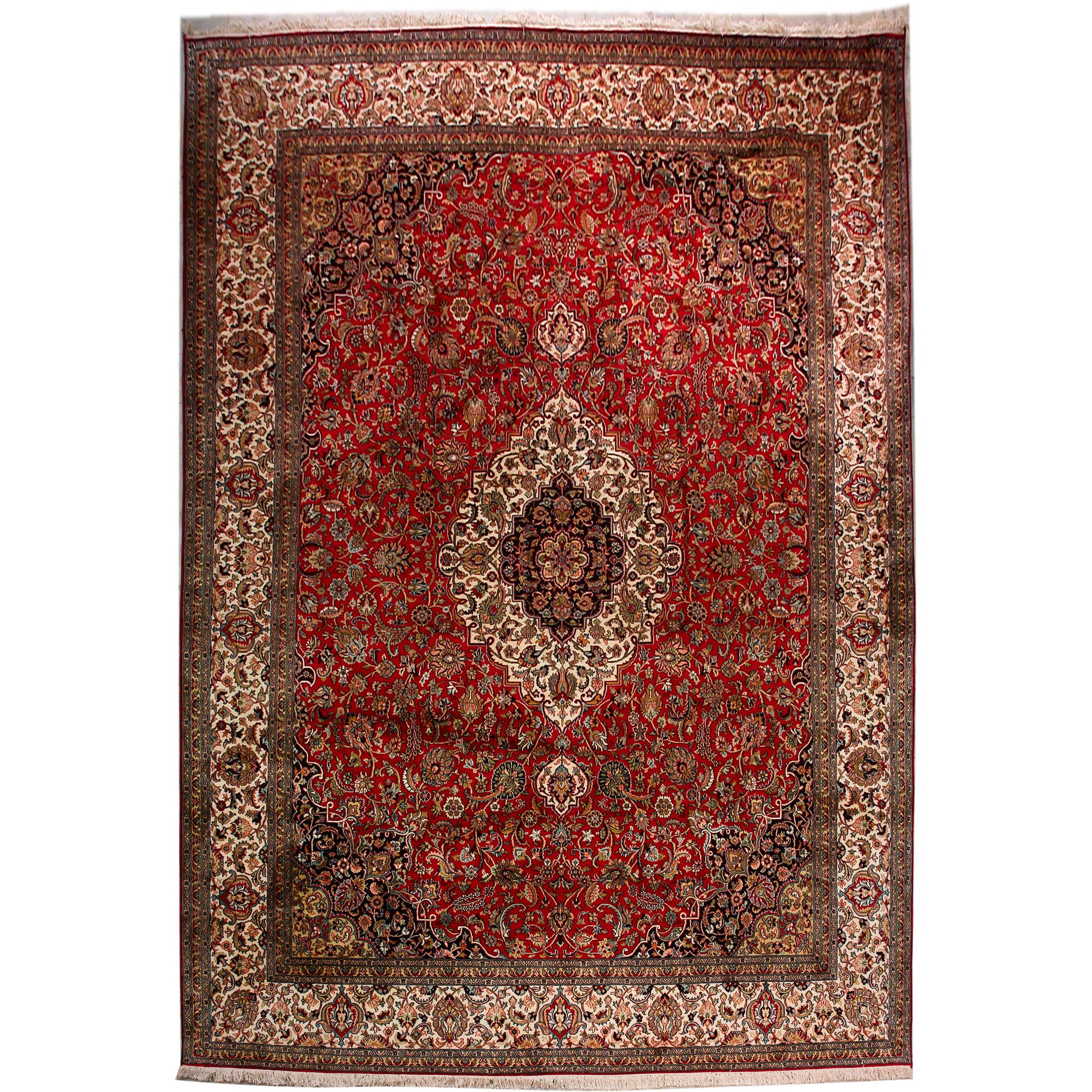Classic Rugs :: Kashmir silk Exclusive 345x248cm Oriental Silk Rug -  Περσικα Ανατολιτικα χειροποίητα χαλιά Persian Art Γλυφάδα