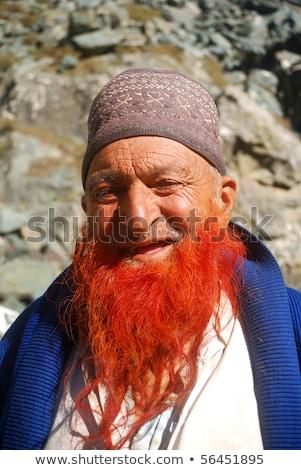 SONAMARG, INDIA - OCTOBER 14: Kashmirian man smiles October 14, 2009 in  Sonamarg