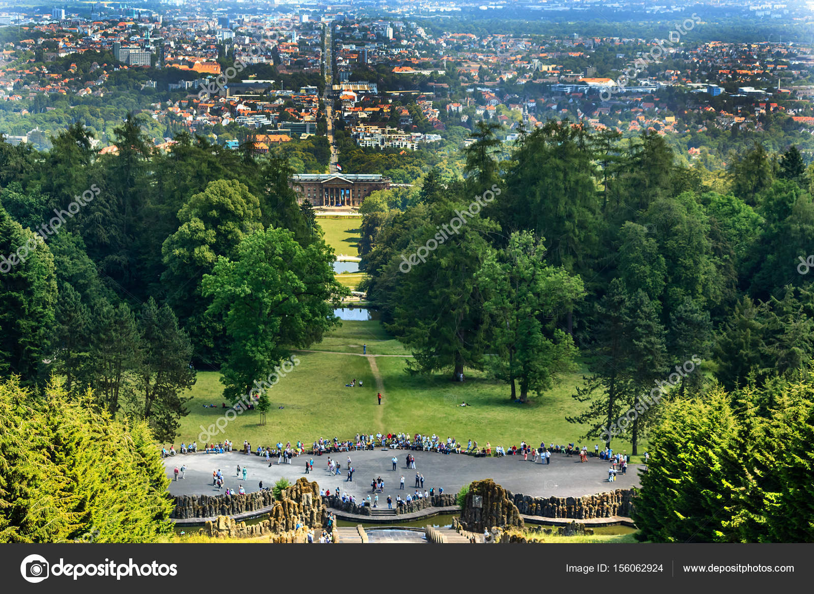 Paisaje de la ciudad Kassel, Alemania — Foto de Stock