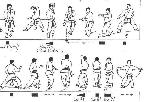 An example of a martial arts kata