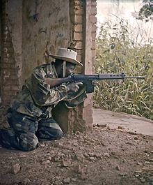 Katangese gendarme in 1961.