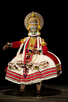 Full costume of kathakali (artist: Sri Sadanam Krishnankutty)