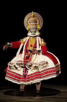 Full costume of kathakali (artist: Sri Sadanam Krishnankutty)