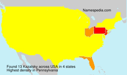 Surname Kazatsky in USA