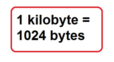 Equivalencia del kilobyte