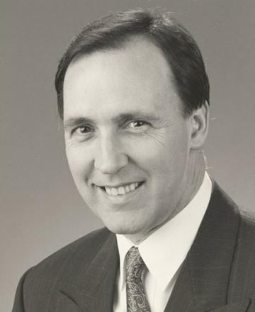 Portrait of a man Paul Keating.