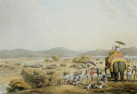 driving elephants into a keddah by william samuel howitt