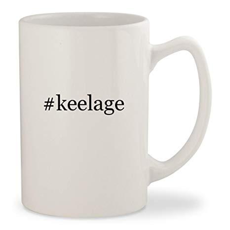 #keelage - White Hashtag 14oz Ceramic Statesman Coffee Mug Cup