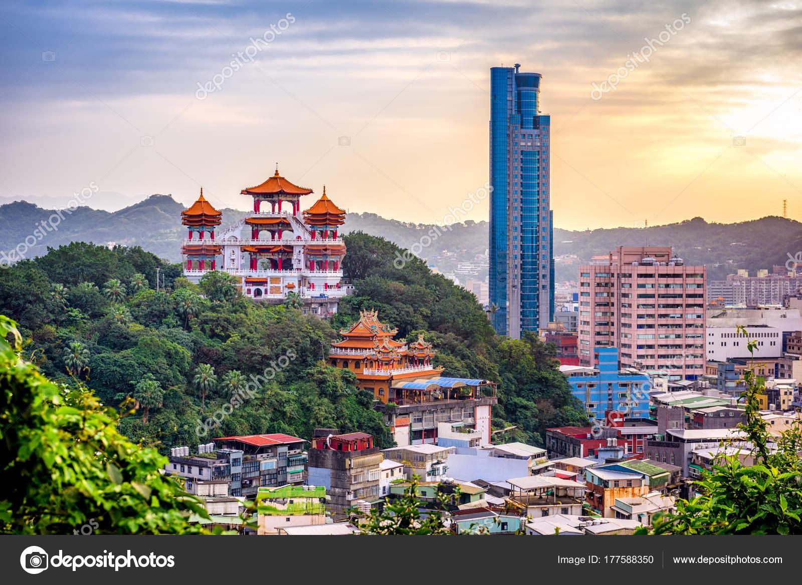 Horizonte de Keelung, Taiwán — Fotos de Stock