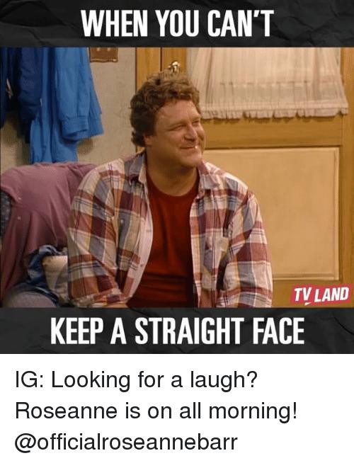 keep a straight face