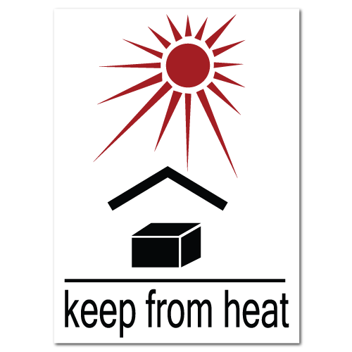 Keep From Heat Stickers. ‹