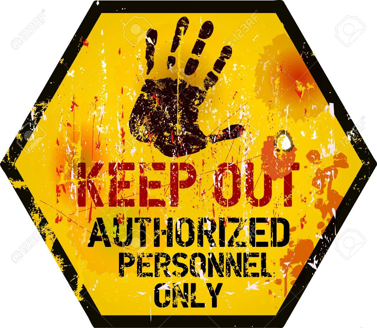 Keep out sign, warning prohibition sign, vector Stock Vector - 20891180