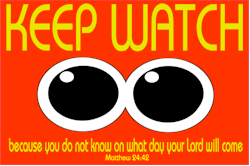 Keep Watch - Bible : Matthew 24:32 - Christian Pop Art