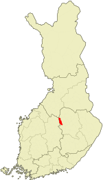 Location of Keitele in Finland