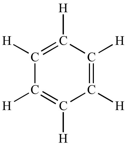 The Kekule structures for benzene