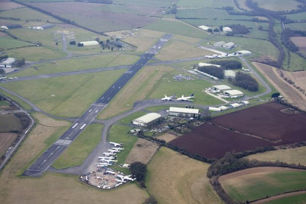 An aerial shot of Kemble-Cotswold Airport. Credit Ian Haskell/ASI/Twitter.