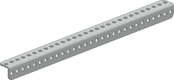 01-0029, L shaped beam – 29 hole
