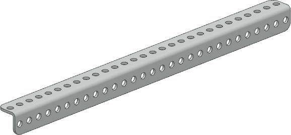 01-0029, L shaped beam – 29 hole