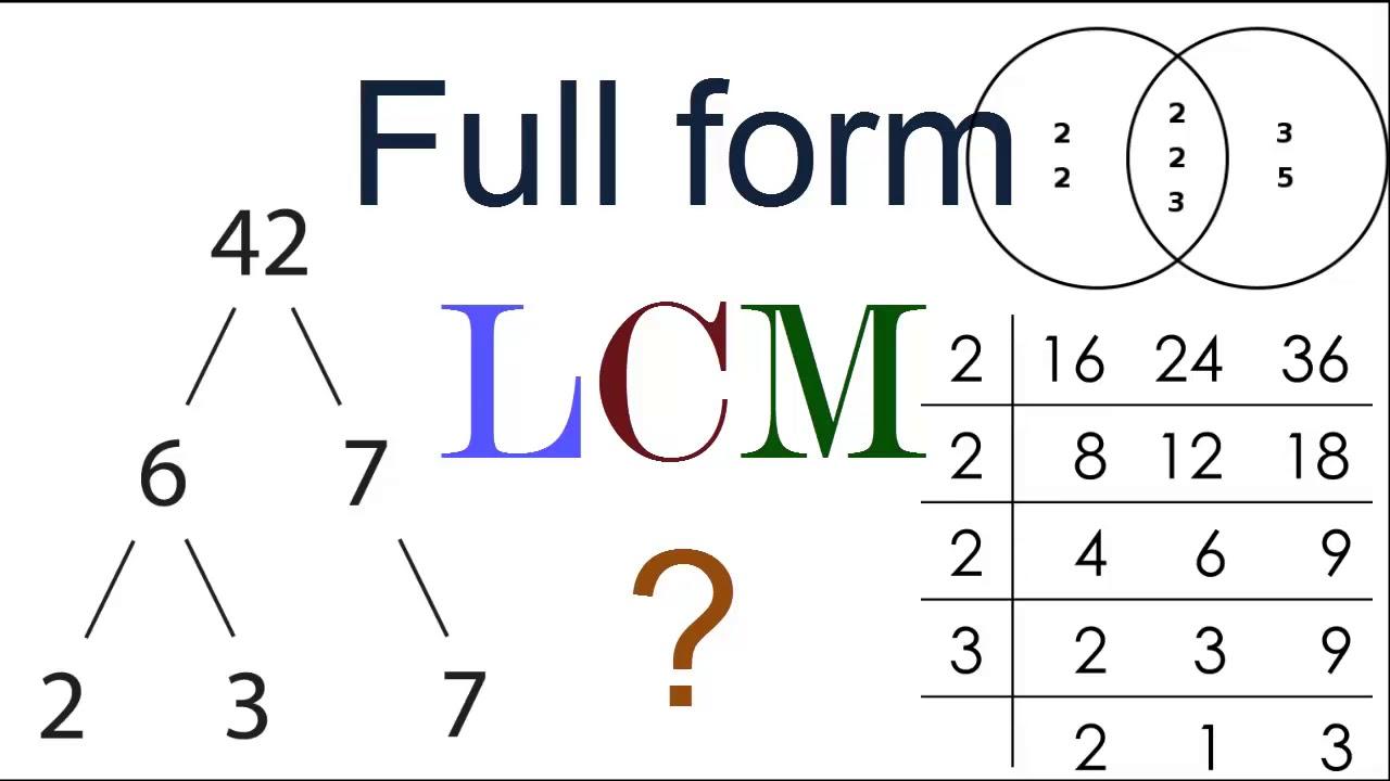 Full Form of LCM ?